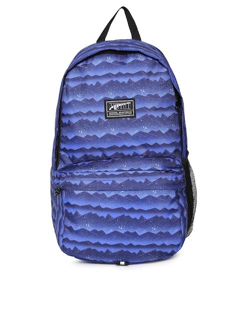 Puma Unisex Blue Printed Academy Backpack 286a7d1a02edc