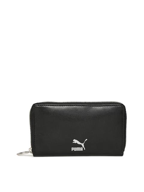 Puma Unisex Black Originals East-West Zip Around Wallet
