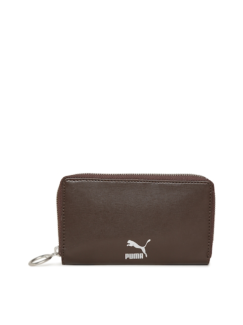 Puma Unisex Brown Originals East-West Zip Around Wallet