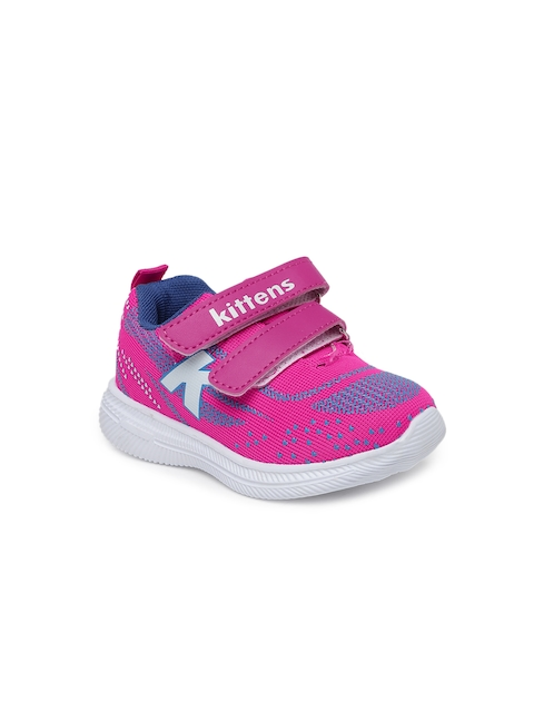 Kittens Girls & Orange Pink Sneakers