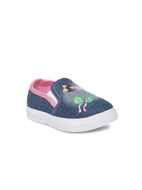 Kittens Girls Blue Slip-On Sneakers