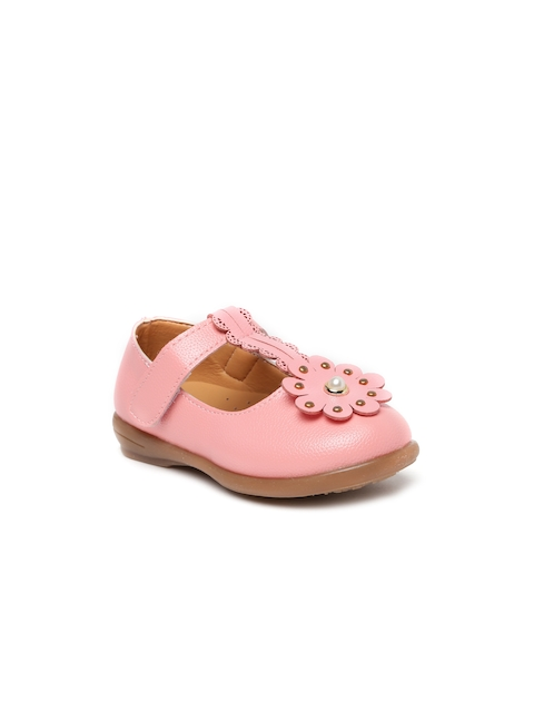 Kittens Girls Pink Embellished Synthetic Ballerinas