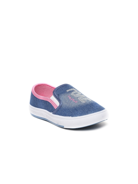 Kittens Girls Blue Boat Shoes