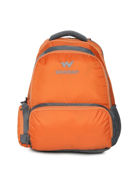 Wildcraft Unisex Orange Visam Solid Backpack