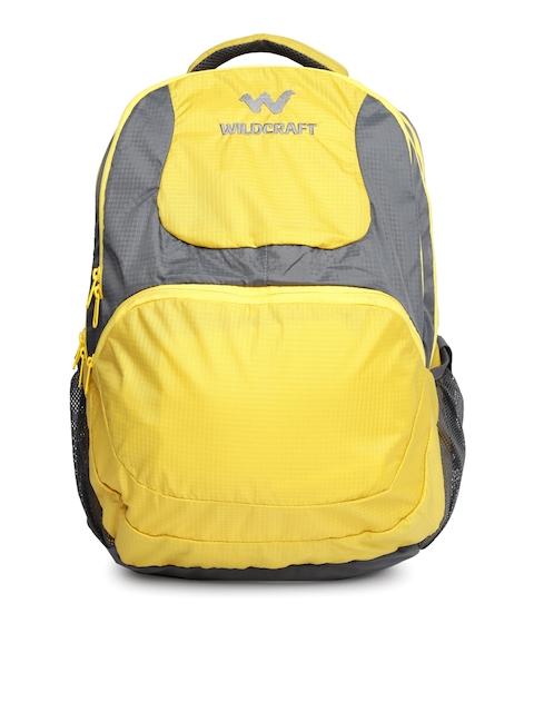 Wildcraft Unisex Yellow & Grey Zikhar Colourblocked Backpack
