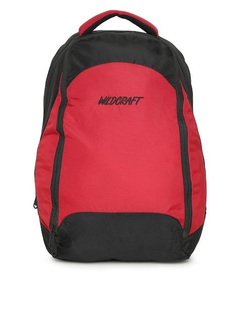 Wildcraft Unisex Red & Black Zen Colourblocked Backpack