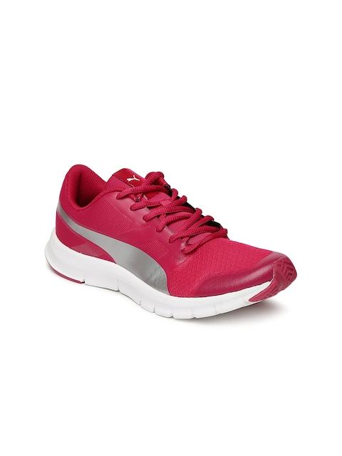Puma Girls Pink Flexracer Jr Sneakers