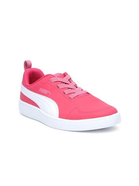 Puma Girls Pink Courtflex PS Sneakers