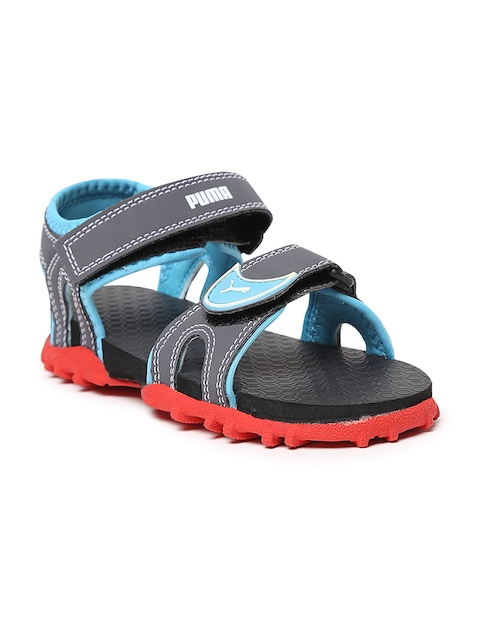 Puma Men Grey Track PS Sports Sandals