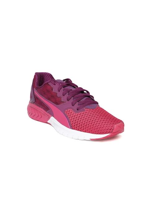 Puma Girls Pink Ignite Dual Mesh Running Shoes