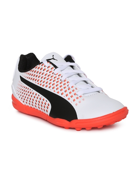 Puma Unisex White & Orange Adreno III TT Jr Football Shoes  available at myntra for Rs.1574