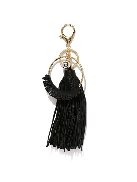 Ayesha Women Black & Gold-Toned Keychain
