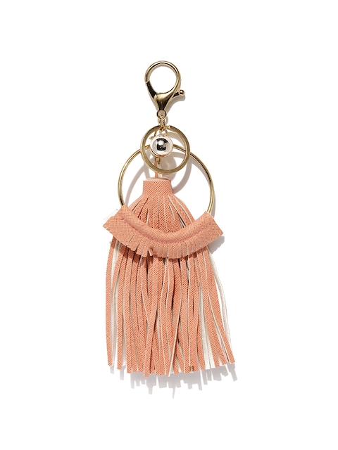 Ayesha Women Peach & Gold-Toned Keychain