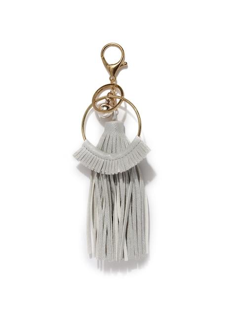Ayesha Women Silver & Gold-Toned Keychain