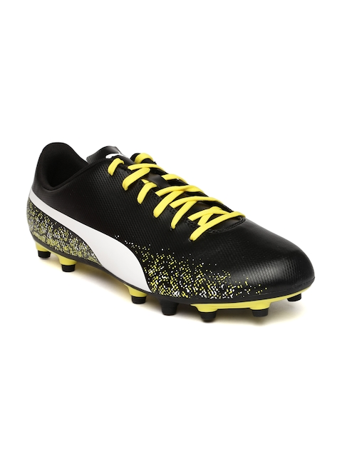 Puma Men Black & Yellow Printed Truora Football Shoes