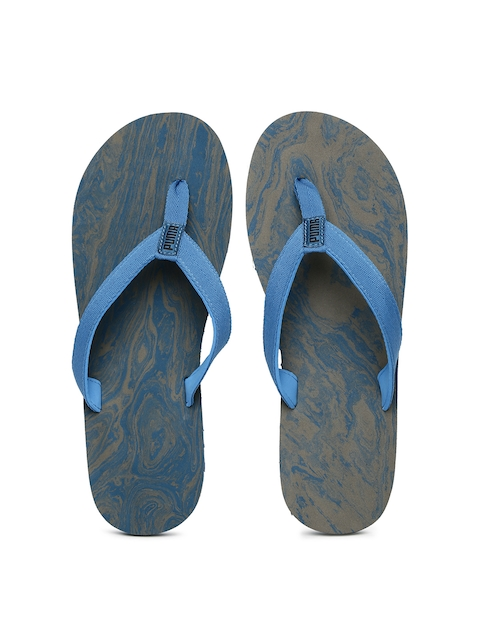 Puma Men Blue & Grey Epic Flip v2 Marble Printed Flip-Flops