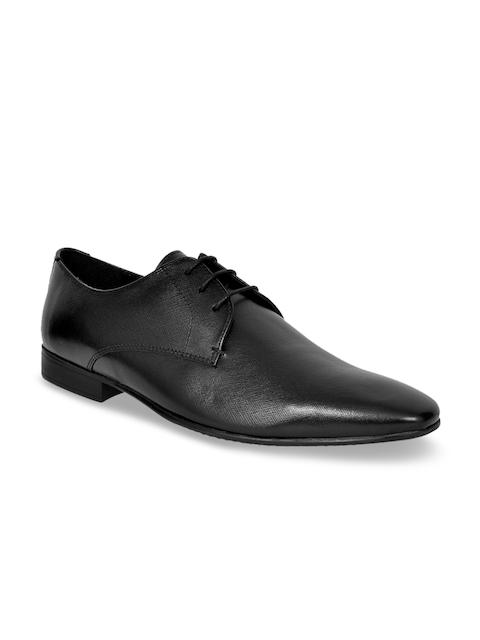 Allen Cooper Men Black Leather Formal Derbys