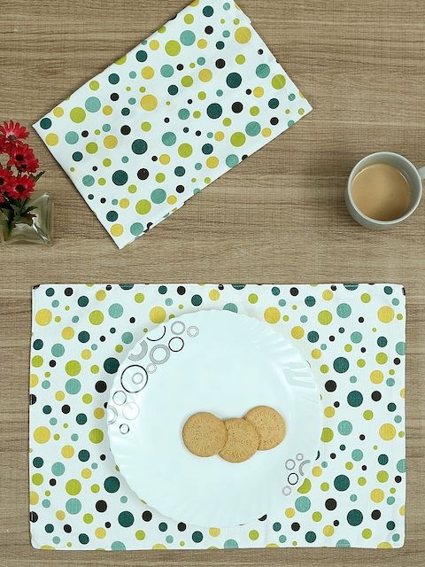 RANGRAGE Set of 12 Cotton Printed Table Linens
