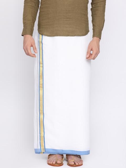Darpanas Fashions Cream-Coloured Solid Readymade Dhoti