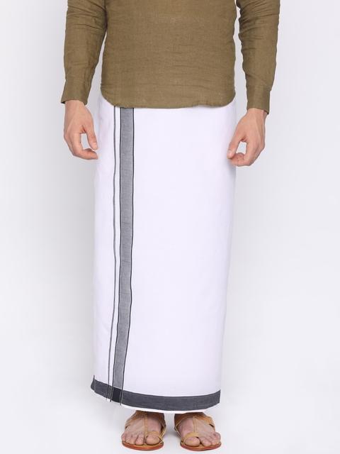 Darpanas Fashions Off-White Solid Readymade Dhoti