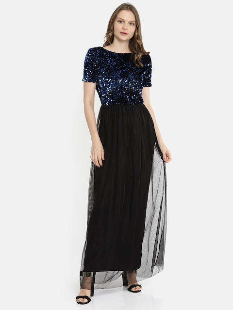 ONLY Women Black Solid Maxi Dress