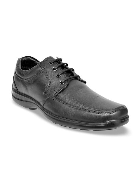 Allen Cooper Men Black Leather Semi-formal Derbys