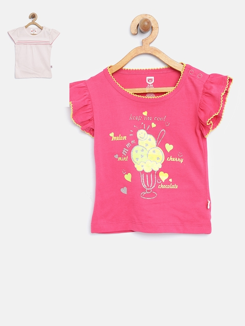 Baby League Girls Pack of 2 Pink Tops