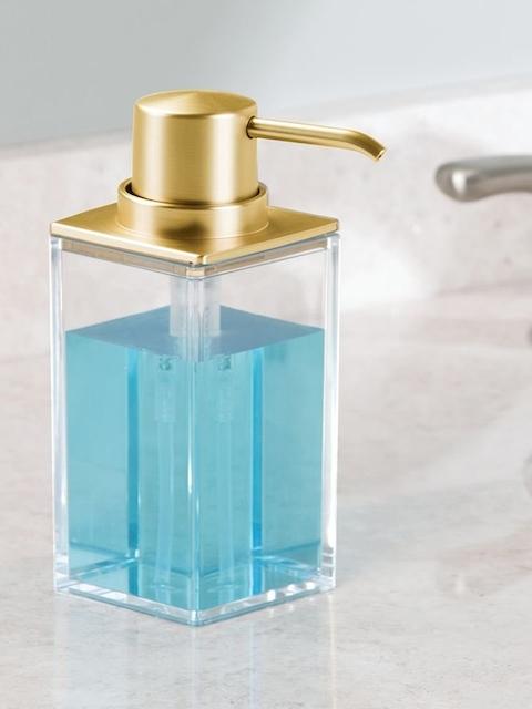 INTERDESIGN Gold Plastic Soap Dispenser