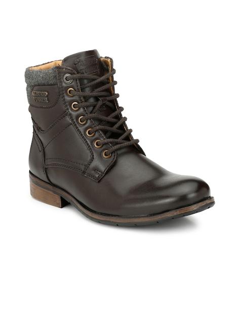 Alberto Torresi Men Brown Flat Leather Boots