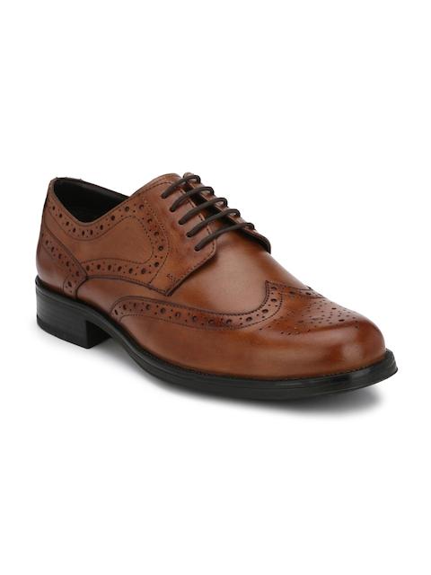 Alberto Torresi Men Tan Derby Leather Shoes
