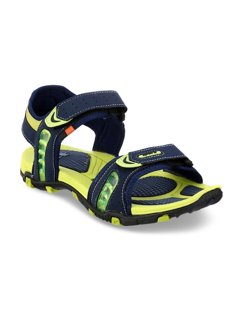 Sparx Men Navy Blue & Green Comfort Sandals