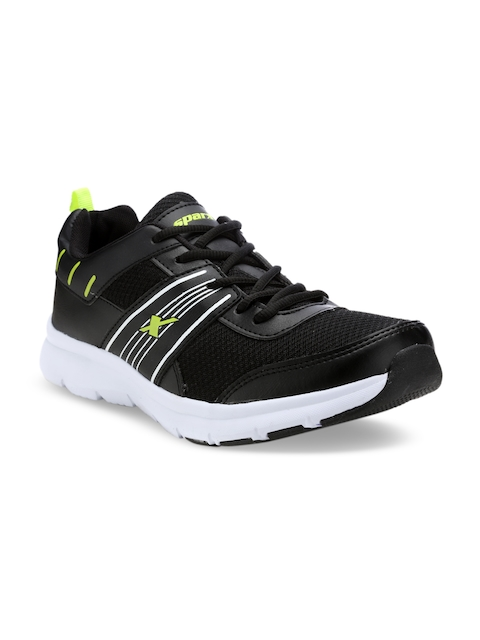 Sparx Men Black & Green Running Shoes SX9026G