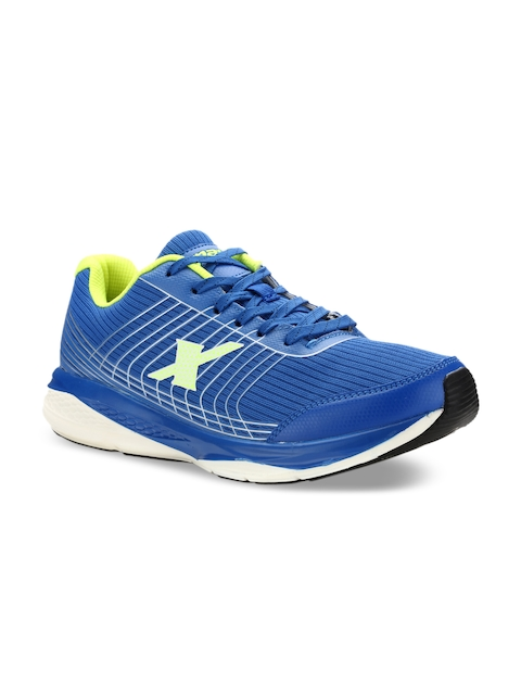 Sparx Men Blue & Flourscent Green Running Shoes SX9017G