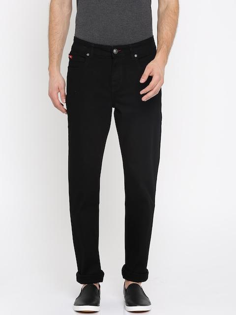 Lee Cooper Men Black Slim Fit Mid-Rise Clean Look Stretchable Jeans