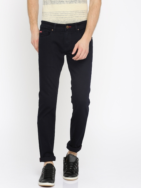 Lee Cooper Men Blue Norris Slim Fit Low-Rise Clean Look Stretchable Jeans