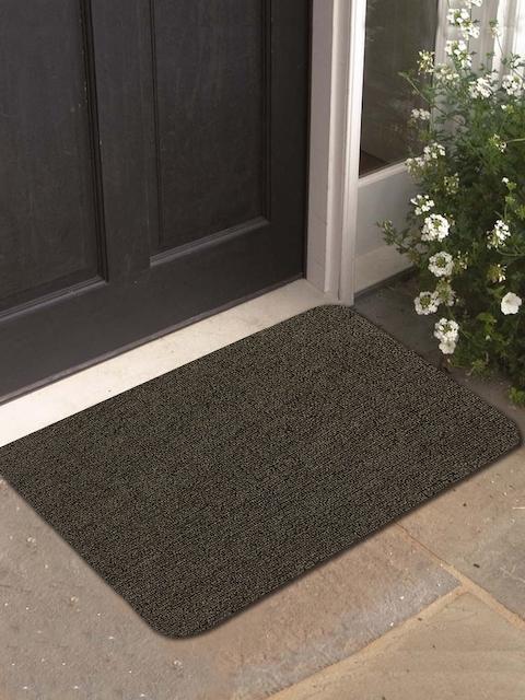 Athom Trendz Green Rectangular Anti-Skid Doormat