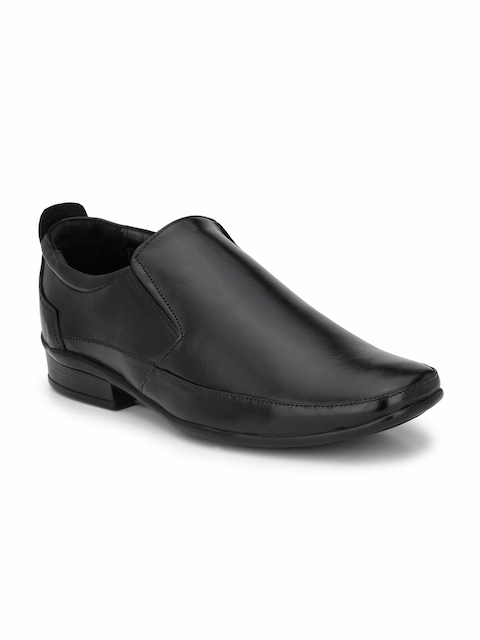 Prolific Men Black Formal Slip-Ons