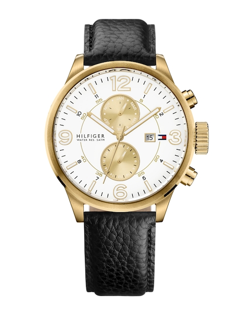 Tommy Hilfiger Men White & Gold-Toned Analogue Watch TH1790893J_BBD