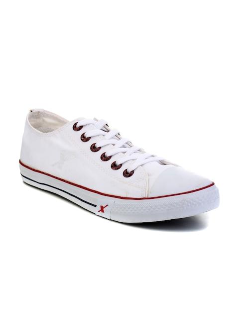 Sparx Men White Sneakers