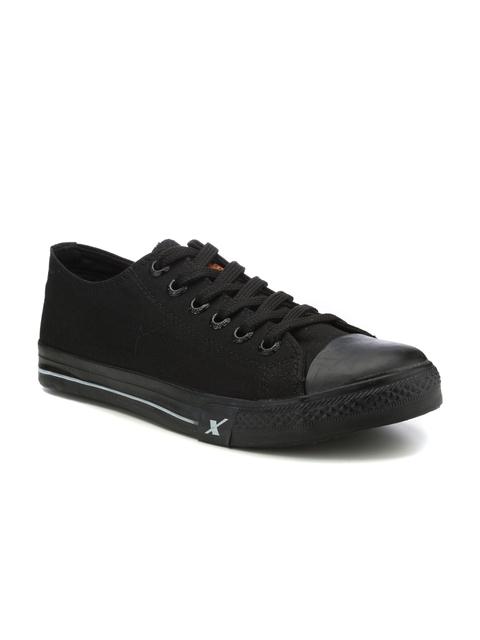 Sparx Men Black Sneakers