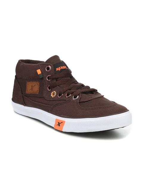 Sparx Men Brown Sneakers