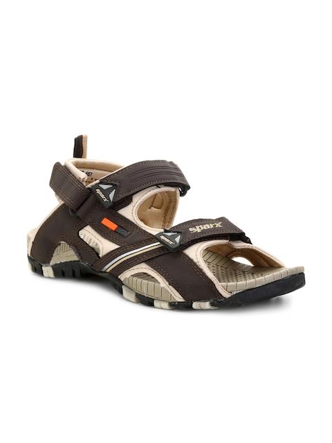 Sparx Men Brown & Beige Comfort Sandals