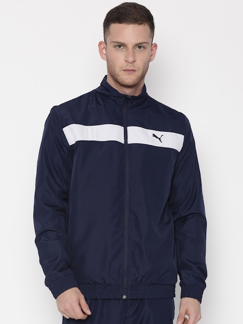 Puma Navy & White Colourblocked Tracksuit