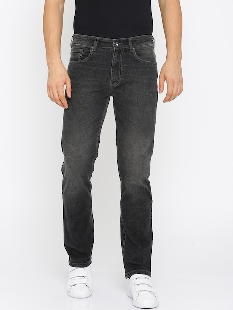 Pepe Jeans Men Black Holborne Regular Fit Low-Rise Clean Look Stretchable Jeans