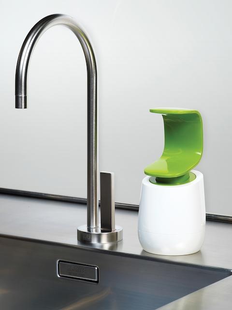 Joseph Joseph White & Green Soap Dispenser