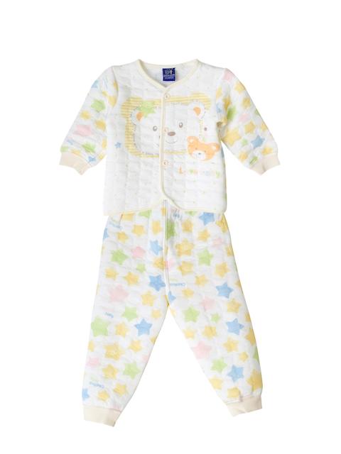 Lilliput Unisex Yellow Printed T-shirt with Pyjamas