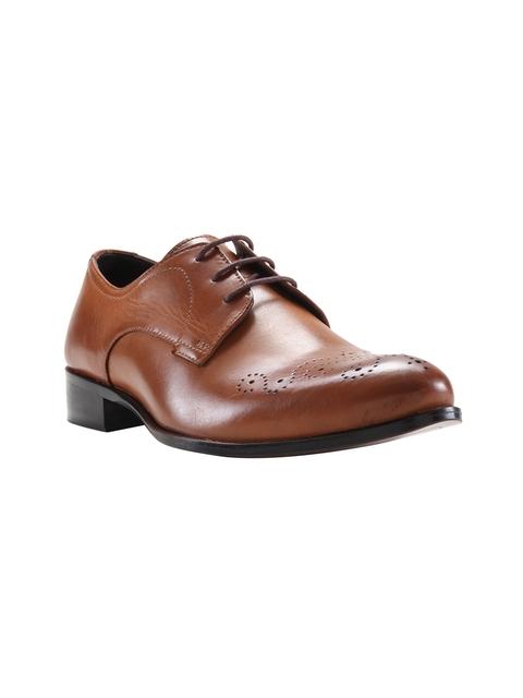 Franco Leone Men Tan Formal Leather Brogues