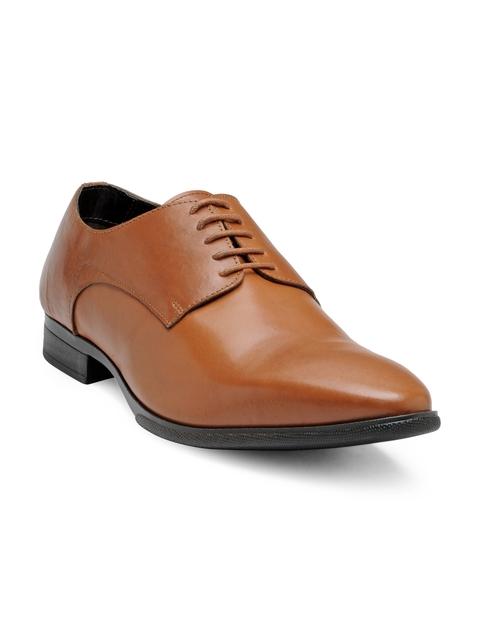 Franco Leone Men Tan Formal Derby Shoes