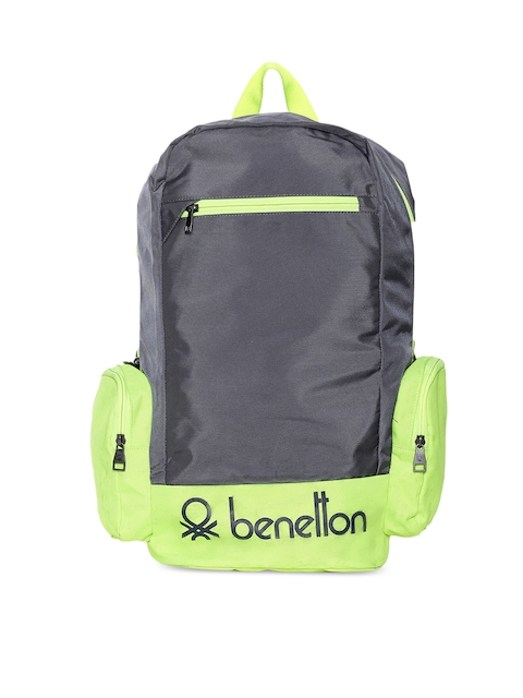 United Colors of Benetton Unisex Grey Solid Backpack