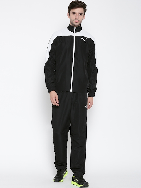 Puma Men Black & White Evostripe Tracksuit